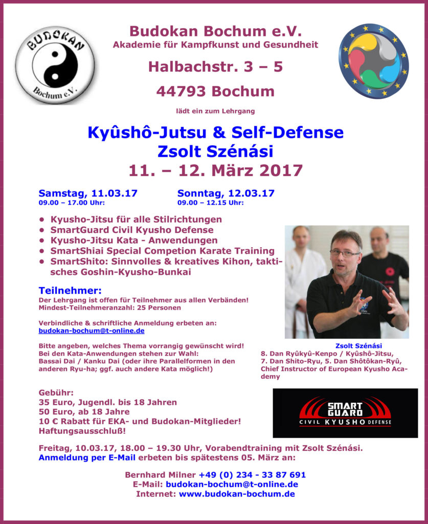karate ky sh jutsu self defense zsolt sz n si in bochum nordrhein westfalen. Black Bedroom Furniture Sets. Home Design Ideas